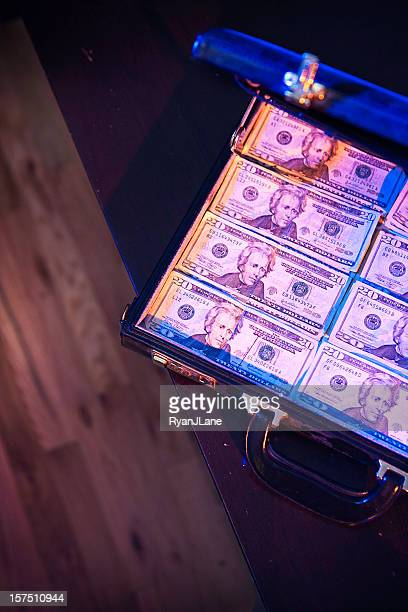 Stacks of Money In A Briefcase