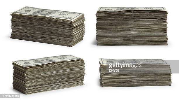stacks of money - stack stock photos and pictures