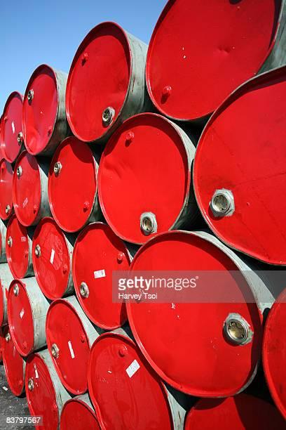 Stacks of Oil Barrels