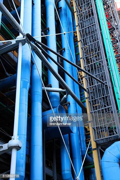 stacks of pipes - centre georges pompidou stock pictures, royalty-free photos & images