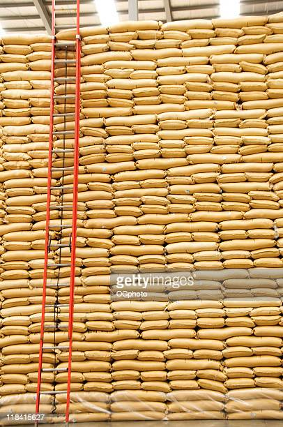 stacks of sacks - ogphoto stock photos and pictures