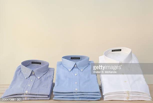 Stacks of shirts