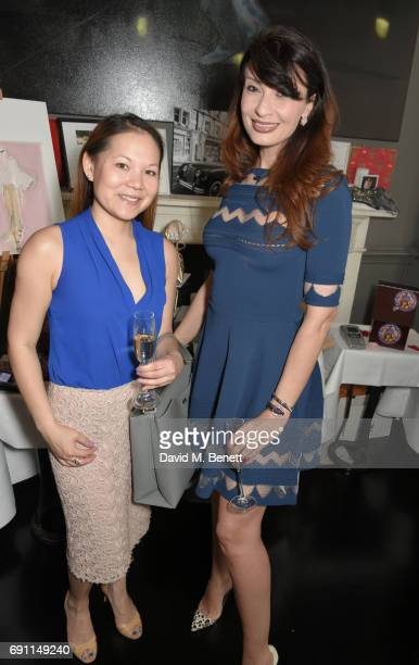 Stacy Chan and Alessandra Vicedomini attend a Charity Luncheon in support of the Nadezda Foundation hosted by Nadya Abela at Morton's Club on June 1,...
