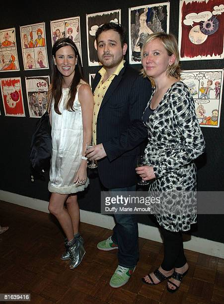 Stacy Engman of Precept 7, Steve Mascatello of the National Arts Club and Catherine Johnson of the National Arts Club attend Eve Kitten at the...