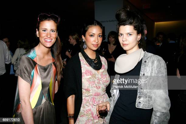 Stacy Engman Sylvie Cachay and Lika Volk attend MoMA celebrates MARTIN KIPPENBERGER THE PROBLEM PERSPECTIVE WITH A RECEPTION at MoMa on February 24...