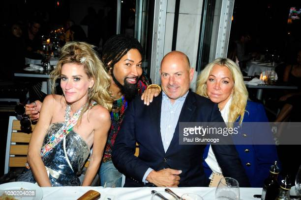 Stacy Engman Ty Hunter Tom D'Agostino and Anna Rothschild attend Fashion Week Party To Celebrate Frederick Anderson Spring 2019 Collection at Bice on...