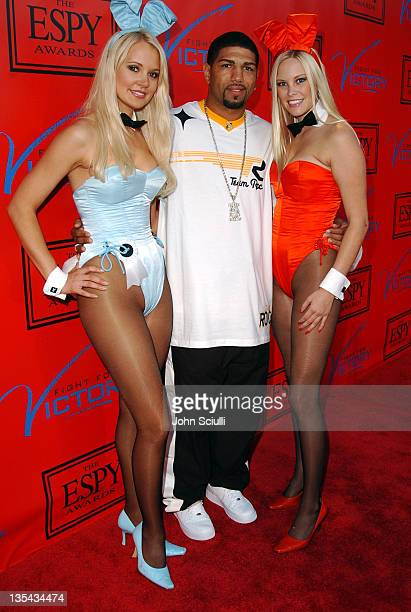 Stacy Fuson Winky Wright and Audra Lynn during Tom Brady and ESPN Host Fight For Victory PreParty for the 12th Annual ESPY Awards at Playboy Mansion...