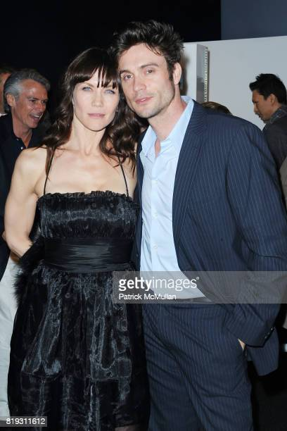 Stacy Haiduk and Daniel Goddard attend Opening Night Preview Party Of the LA Antique Show Benefiting PS ARTS at Barker Hangar on April 21 2010 in...