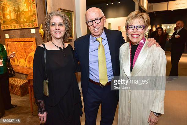Stacy Hollander Allan Katz and Penny Katz attend 2017 Winter Antiques Show Opening Night Party at Park Avenue Armory on January 19 2017 in New York...