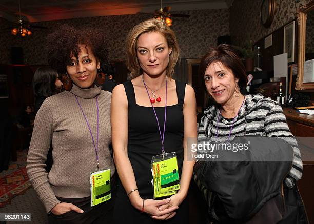 Stacy Holman Lucy Walker and Holly Becker attend Late Night at Filmmaker Lodge during the 2010 Sundance Film Festival on January 26 2010 in Park City...