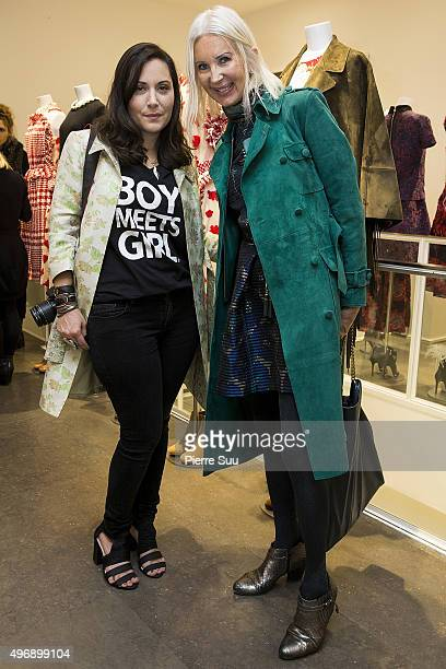 Stacy Igel and Anne de Champigneul attend the 'Preciously Paris Bag' created to benefit Naked Heart Foundation Launch Cocktail at Colette on November...