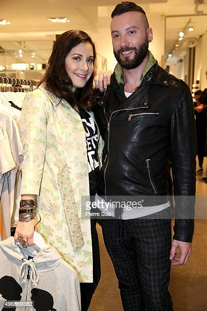 Stacy Igel and makeup artist Jacques Uzzardi Present 'Boy Meets Girl' Collection at Colette on November 12 2015 in Paris France
