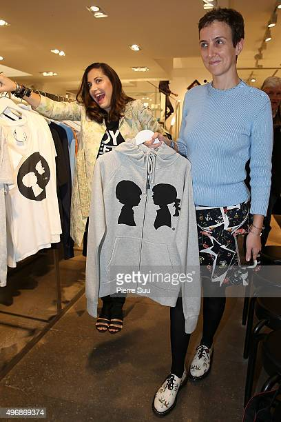 Stacy Igel and Sarah Andelman Present 'Boy Meets Girl' Collection at Colette on November 12 2015 in Paris France