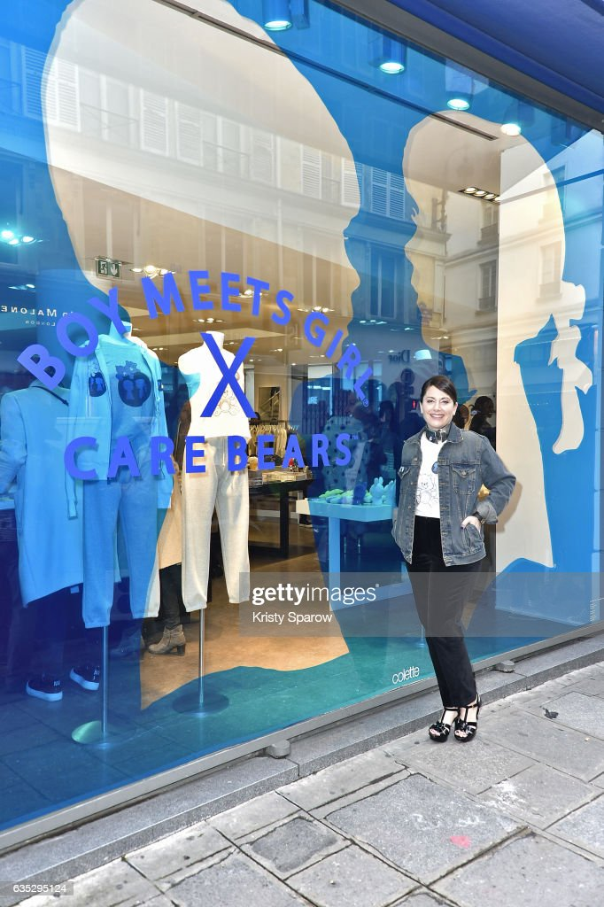 Stacy Igel poses during the Boy Meets Girl x Care Bears Collection at Colette on February 14, 2017 in Paris, France.