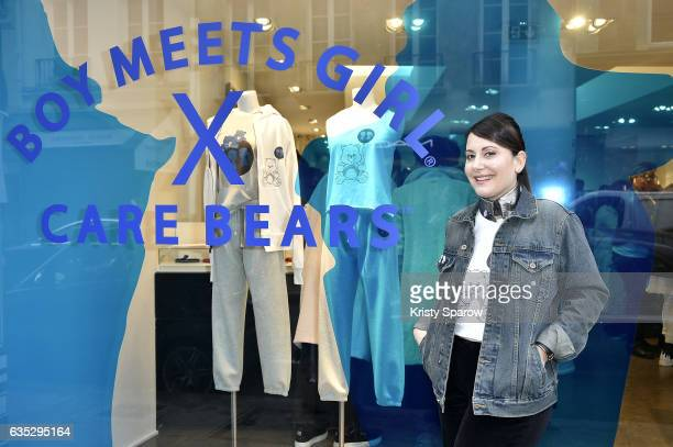 Stacy Igel poses during the Boy Meets Girl x Care Bears Collection at Colette on February 14 2017 in Paris France
