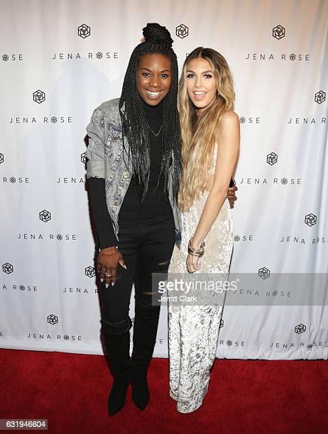 Stacy Ike and Jena Rose attend Singer Jena Rose Birthday Celebration at Bardot on January 12 2017 in Hollywood California