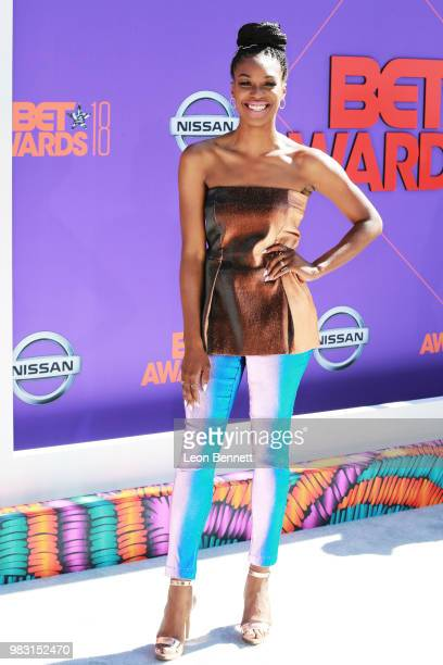 Stacy Ike attends the 2018 BET Awards at Microsoft Theater on June 24 2018 in Los Angeles California