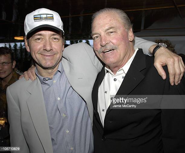 Stacy Keach and Kevin Spacey during 2005 Cannes Film Festival AnheuserBusch Hosts Arclight / Trigger Street Party at AnheuserBusch Big Eagle Yacht in...