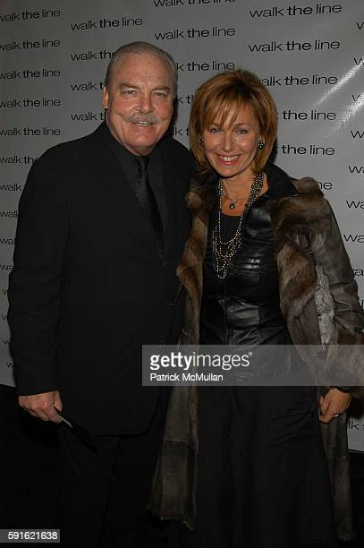 Stacy Keach and Malgosia Tomassi attend Walk the Line inside arrivals at Beacon on November 13 2005 in New York