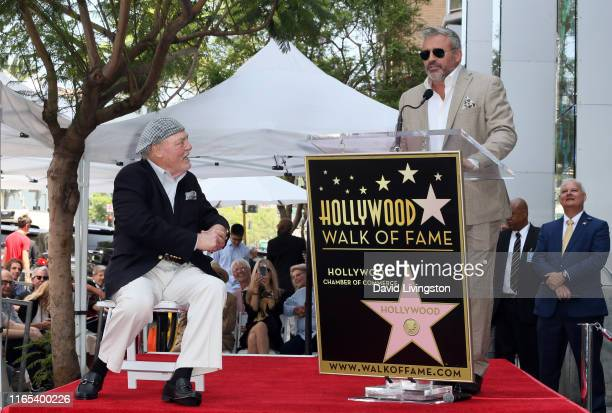 Stacy Keach and Matt LeBlanc attend Stacy Keach being honored with a Star on the Hollywood Walk of Fame on July 31, 2019 in Hollywood, California.