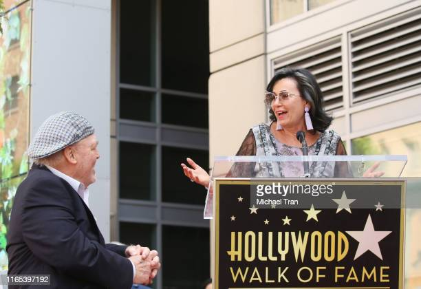 Stacy Keach and wife Malgosia Tomassi attend the ceremony honoring Stacy Keach with a Star on The Hollywood Walk of Fame held on July 31 2019 in...