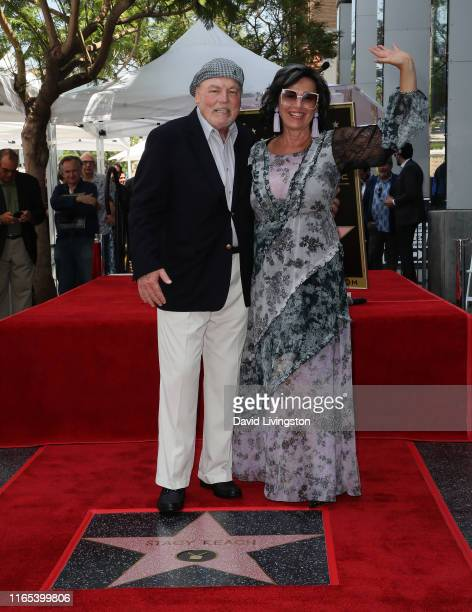 Stacy Keach and wife Malgosia Tomassi Keach attend his being honored with a Star on the Hollywood Walk of Fame on July 31 2019 in Hollywood California