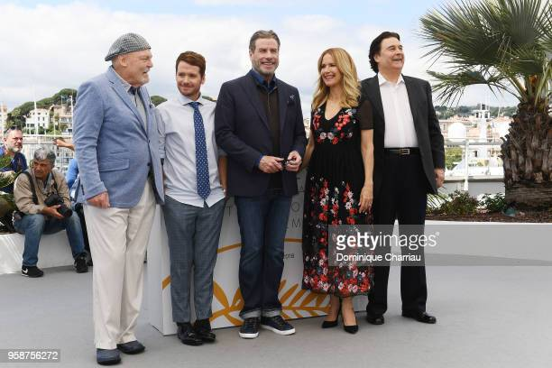 Stacy Keach director Kevin Connolly Edward Walson John Travolta Kelly Preston and Leo Rossi attend the photocall for Rendezvous With John Travolta...