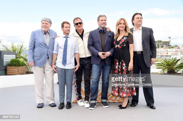 Stacy Keach director Kevin Connolly Edward Walson John Travolta Kelly Preston and Leo Rossi attend Rendezvous With John Travolta Gotti Photocall...