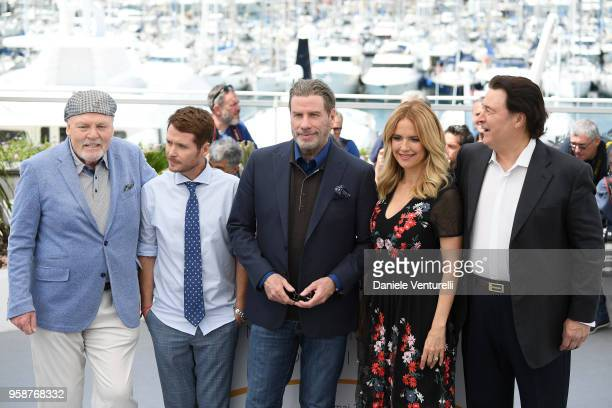 Stacy Keach director Kevin Connolly Edward Walson John Travolta Kelly Preston and Leo Rossi attend the photocall for the Rendezvous With John...