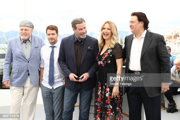 Stacy Keach director Kevin Connolly John Travolta Kelly Preston and Leo Rossi attend the photocall for Rendezvous With John Travolta Gotti during the...
