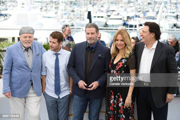 Stacy Keach director Kevin Connolly John Travolta Kelly Preston and Leo Rossi attend the photocall for the Rendezvous With John Travolta Gotti during...