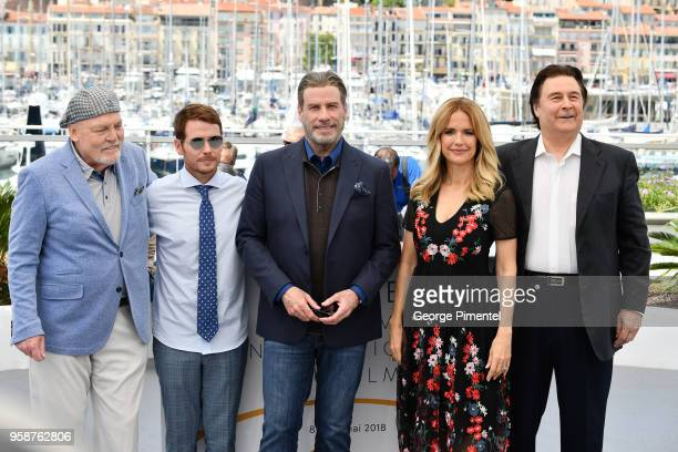 Stacy Keach director Kevin Connolly John Travolta Kelly Preston and Leo Rossi attend the photocall for the 'Rendezvous With John Travolta Gotti'...