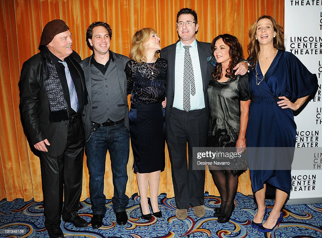 Stacy Keach, Thomas Sadoski, Judith Light, playwright Jon Robin Baitz, Stockard Channing, and Rachel Griffiths attend the 'Other Desert Cities' opening night after party at the Marriot Marquis on November 3, 2011 in New York City.