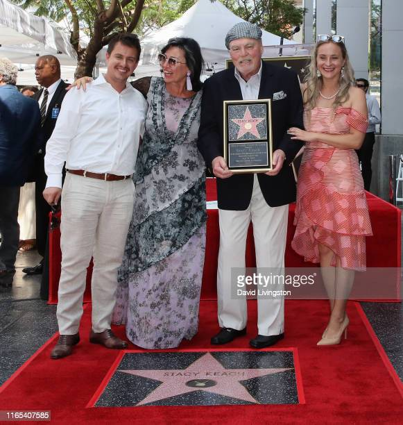 Stacy Keach wife Malgosia Tomassi Keach and family members attend his being honored with a Star on the Hollywood Walk of Fame on July 31 2019 in...