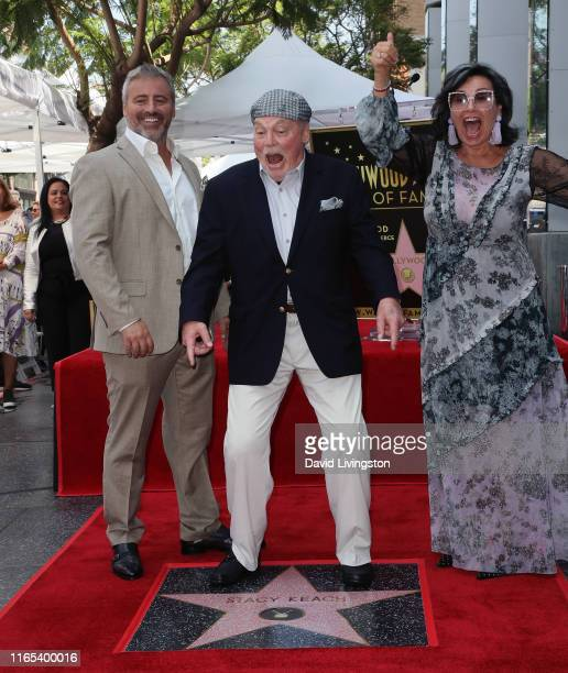 Stacy Keach wife Malgosia Tomassi Keach and Matt LeBlanc attend Stack Keach being honored with a Star on the Hollywood Walk of Fame on July 31 2019...