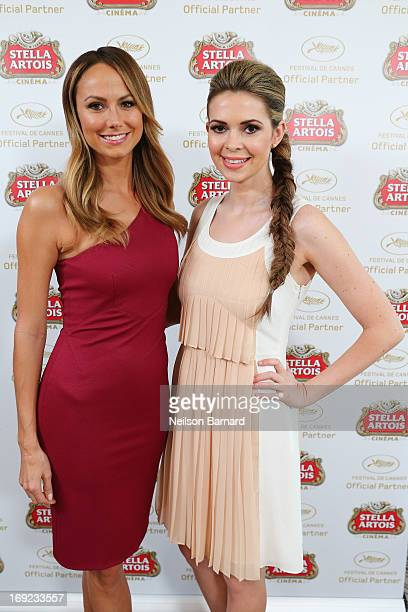 Stacy Keibler and Carly Steel visit The Stella Artois Suite during The 66th Annual Cannes Film Festival at Radisson Blu on May 22 2013 in Cannes...