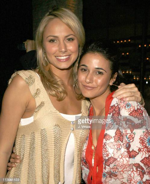 Stacy Keibler and Emmanuelle Chriqui during Nick Lachey Album Release Party at Mood Sponsored by Pure Las Vegas at Mood in Hollywood California...