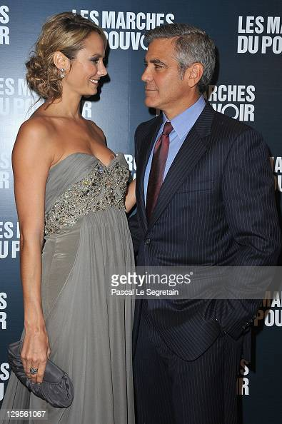 Stacy Keibler And George Clooney Attend The Ides Of March Paris News Photo Getty Images