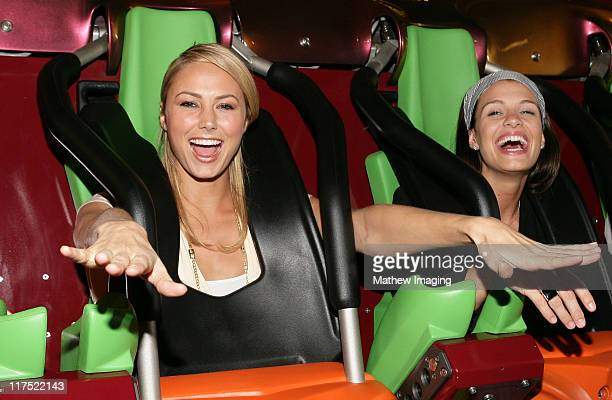 Stacy Keibler and guest during Six Flags Magic Mountain's Birthday Bash for Joe Francis VIP Riders at Six Flags Magic Mountain in Valencia California...