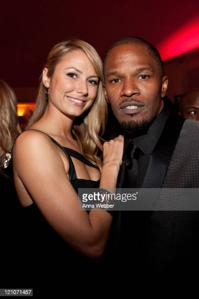 Stacy Keibler and Jamie Foxx attend L'Ermitage on January 29 2010 in Los Angeles California