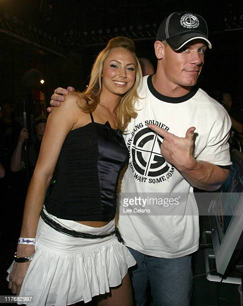 Stacy Keibler and John Cena during THQ Kicks off 3rd Annual WWE Superstar Challenge at House of Blues at House of Blues in West Hollywood California...