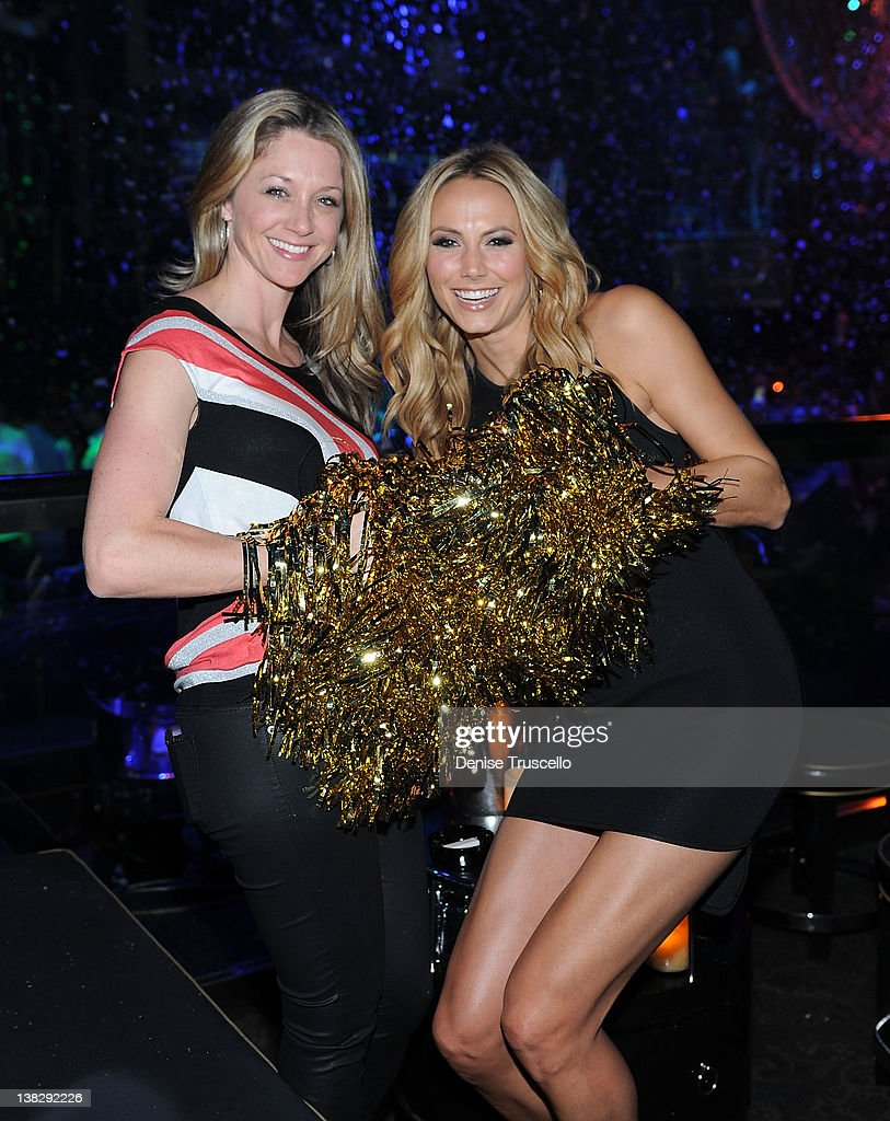 Stacy Keibler Hosts Big Game Eve At The Bank Nightclub