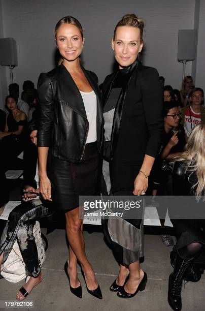 Stacy Keibler and Molly Sims attend the Helmut Lang show during Spring 2014 MercedesBenz Fashion Week at 545 West 22nd Street on September 6 2013 in...