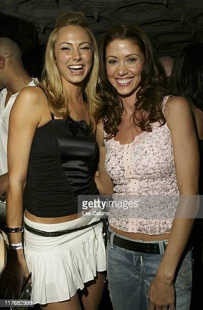 Stacy Keibler and Shannon Elizabeth during THQ Kicks off 3rd Annual WWE Superstar Challenge at House of Blues at House of Blues in West Hollywood...