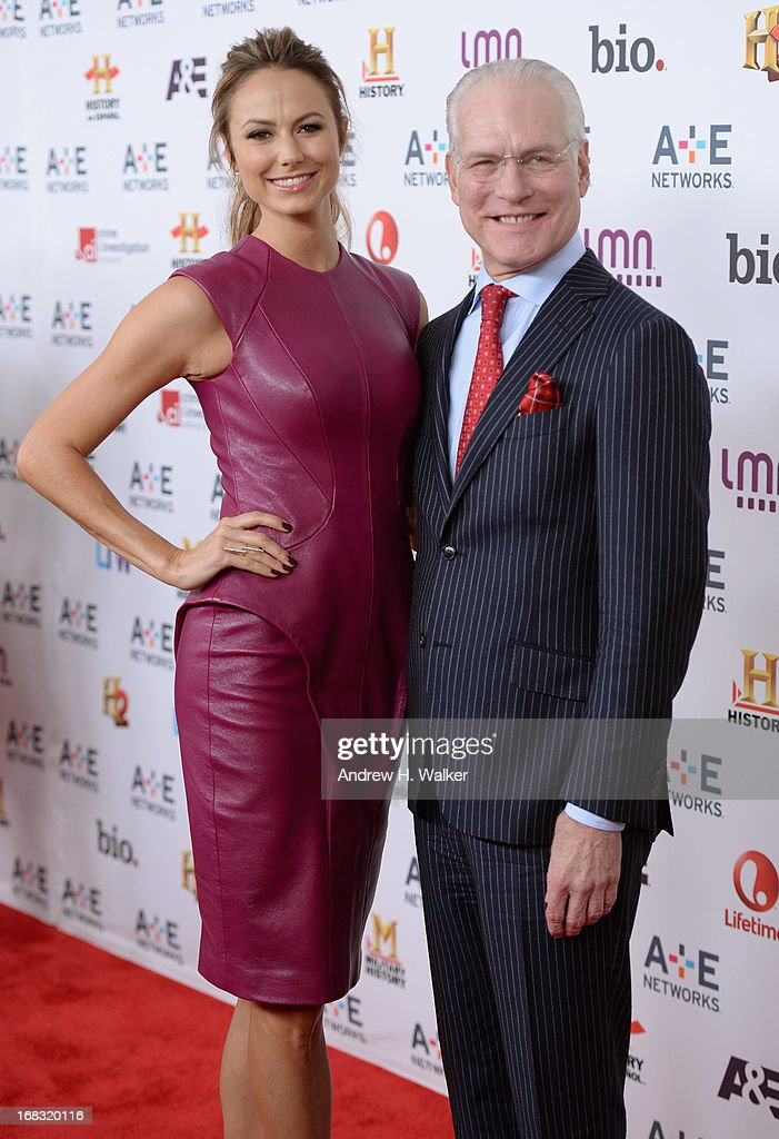 Stacy Keibler and Tim Gunn attend the A+E Networks 2013 Upfront on May 8, 2013 in New York City.