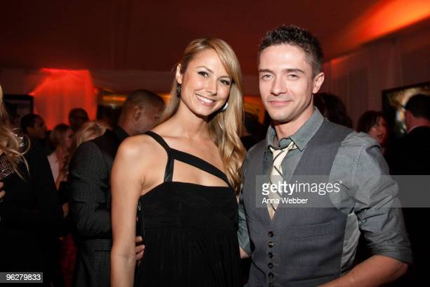 Stacy Keibler and Topher Grace attend L'Ermitage on January 29 2010 in Los Angeles California