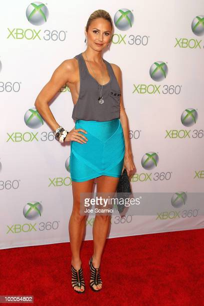 Stacy Keibler arrives to the World Premiere Of 'Project Natal' For Xbox 360 at Galen Center on June 13 2010 in Los Angeles California