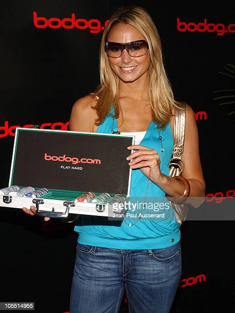 Stacy Keibler at bodog.com during bodog.com at The Silver Spoon Pre-Emmy Hollywood Buffet - Day 1 at Private residence in Beverly Hills, California,...