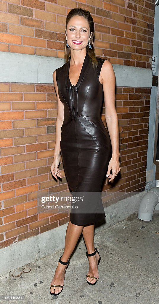 Stacy Keibler attends 2014 Mercedes-Benz Fashion Week during day 4 on September 8, 2013 in New York City.