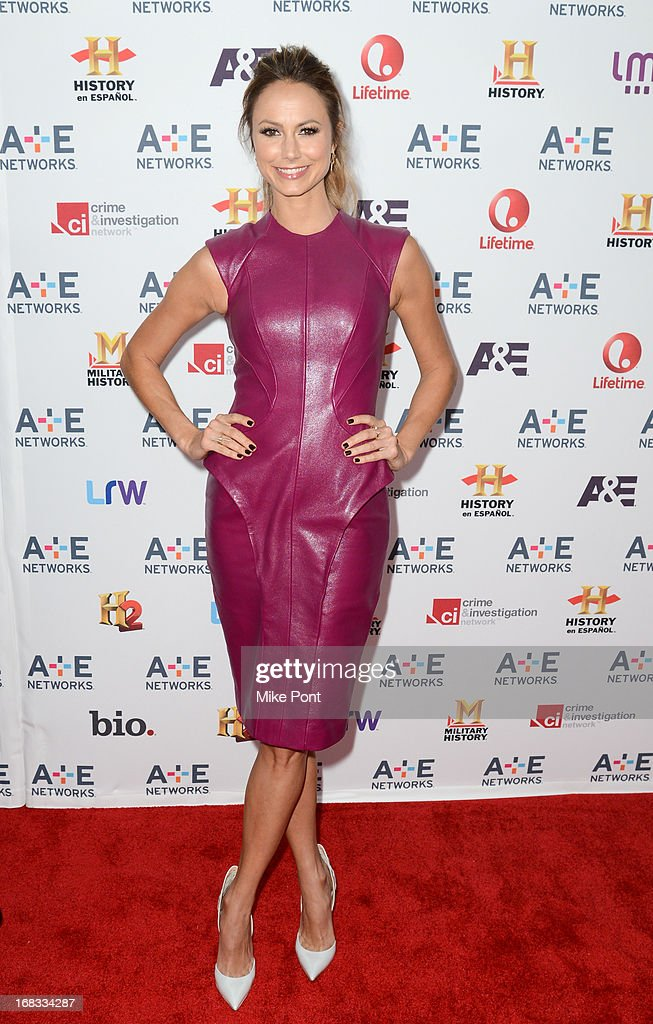 Stacy Keibler attends A+E Networks 2013 Upfront at Lincoln Center on May 8, 2013 in New York City.